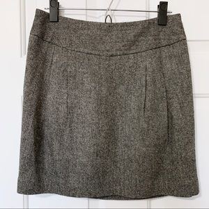 Loft Black Houndstooth Mini Skirt Pockets Sz 2